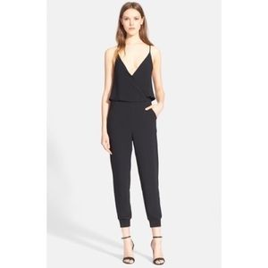 Theory black wrap front Odila crepe jumpsuit 4